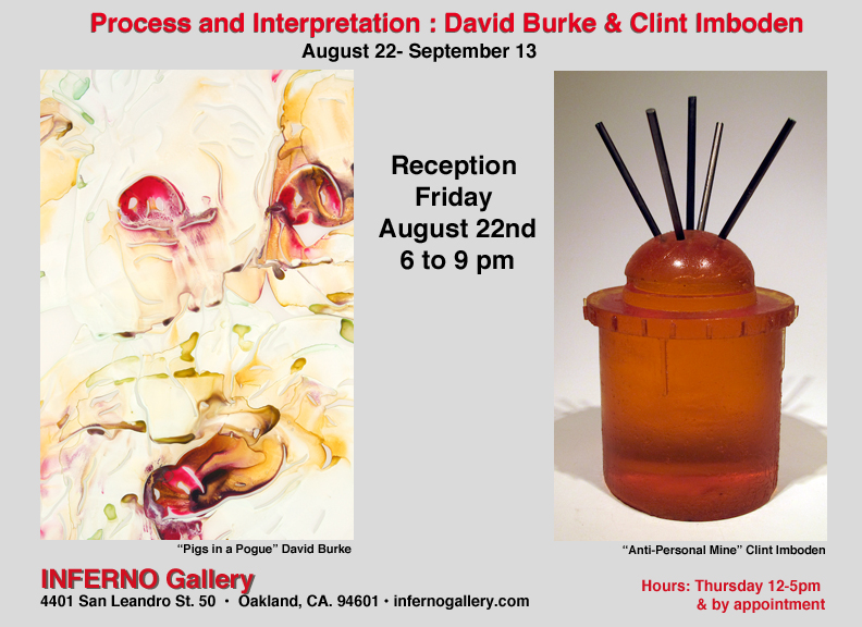 Opening Reception: Process and Interpretation – New Work from David Burke and Clint Imboden