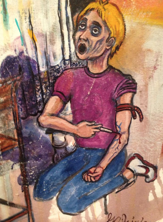 Detail from Narco Supper Mexican Drug War by Barbosa Prince